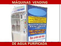 máquina vending de agua