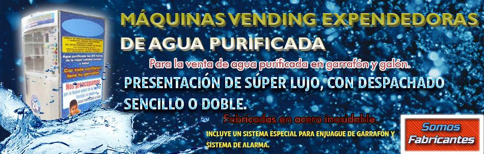Máquinas vending de agua purificada