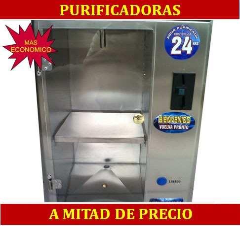 Despachador automatico de agua purificada en garrafon 24 horas